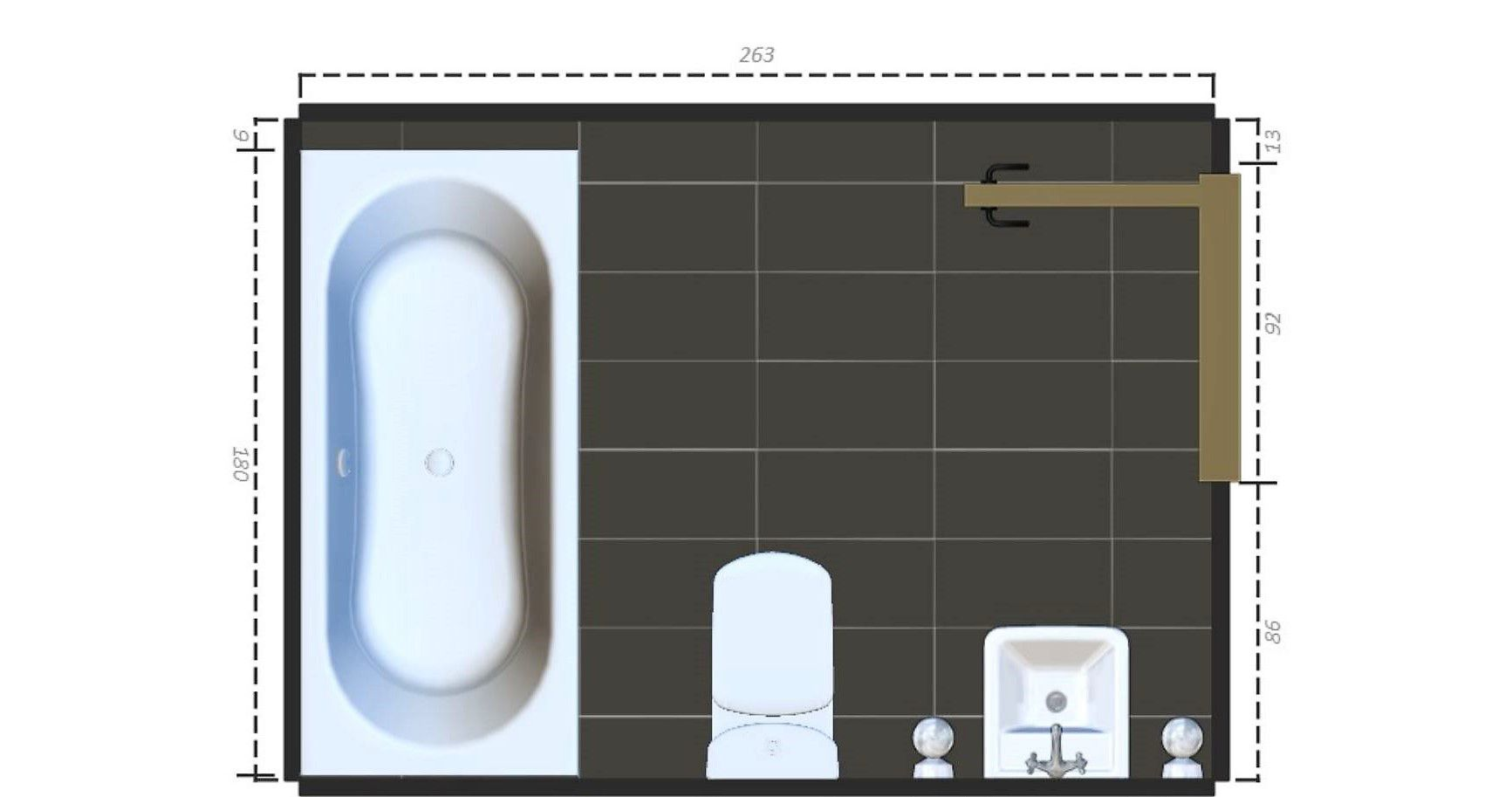 15 free sample bathroom floor plans small to large - Master Bathroom Dimensions