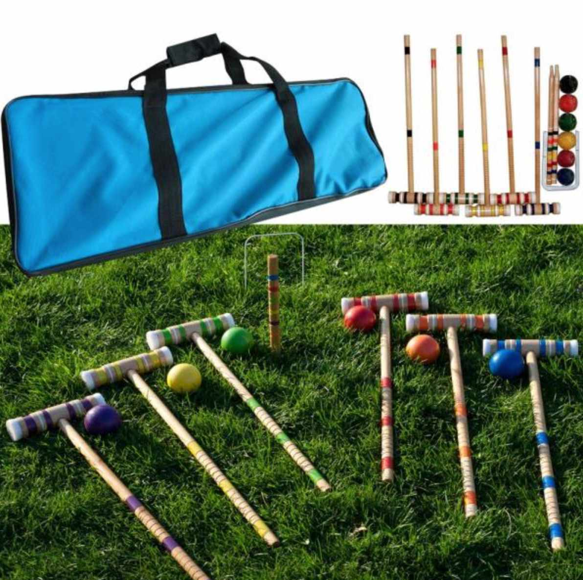Wooden Croquet Set with Carrying Case