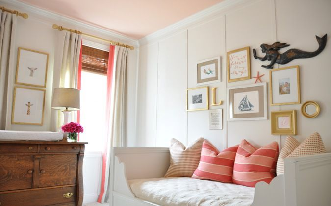 A girl's room with board and batten
