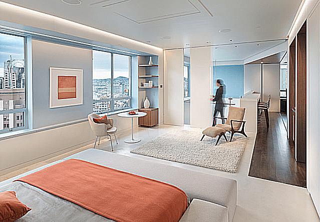 Habitación Penthouse moderna