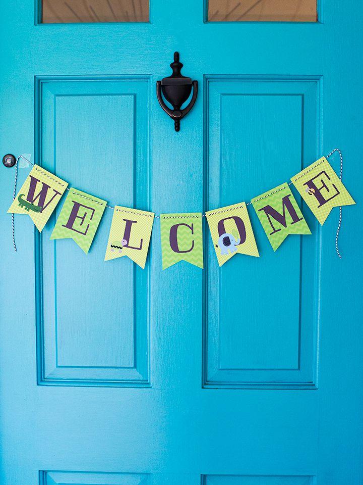 DIY Welcome Baby Shower Banner