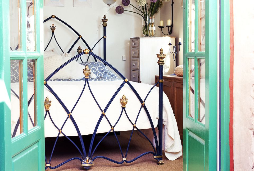 ornate metal bed