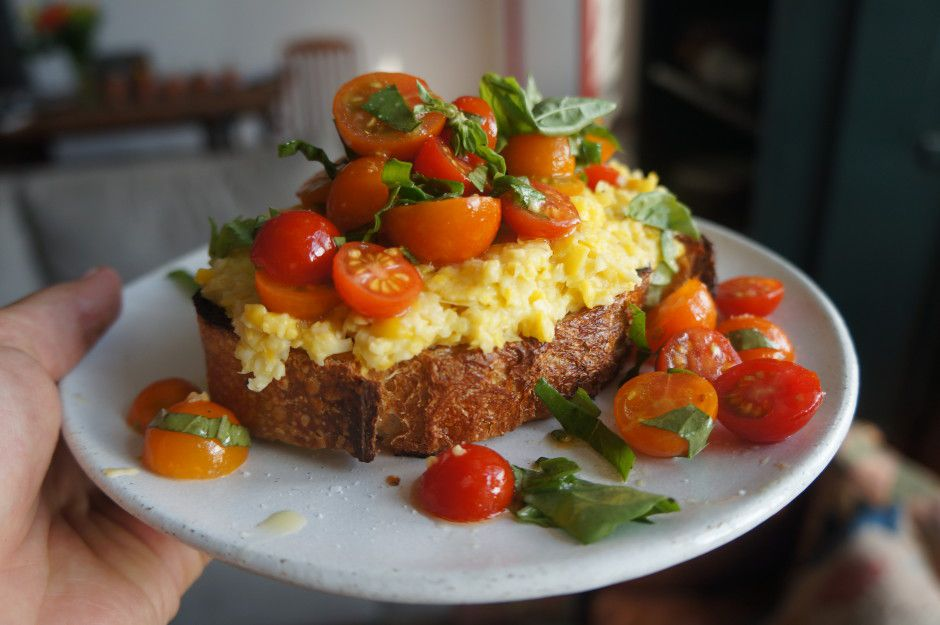Egg + Cherry Tomato Toast