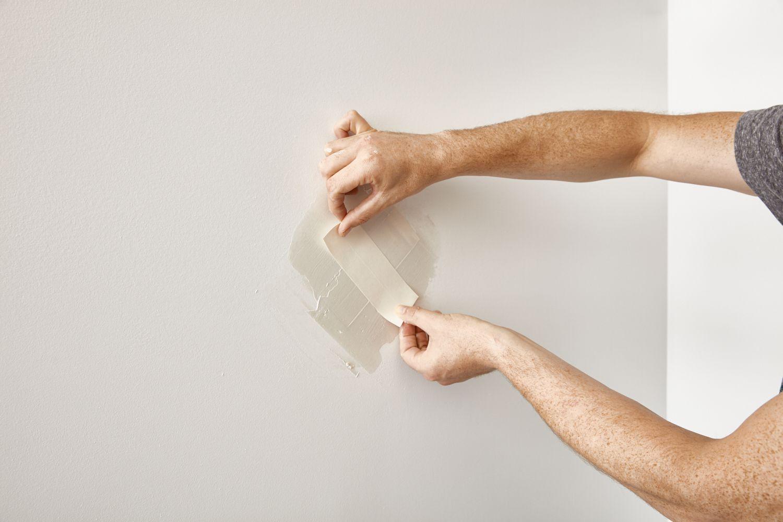 applying tape over drywall
