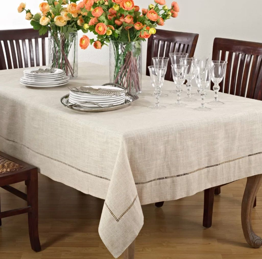 Parthenia Hemstitched Tablecloth