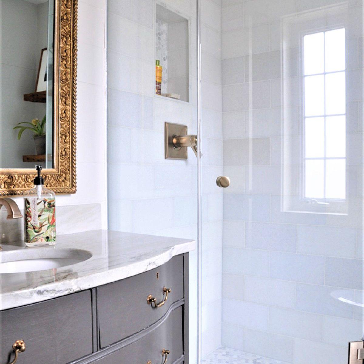 Frameless Glass Corner Shower