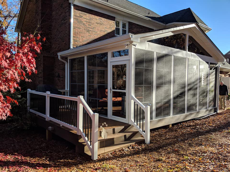 back porch addition on traditional home