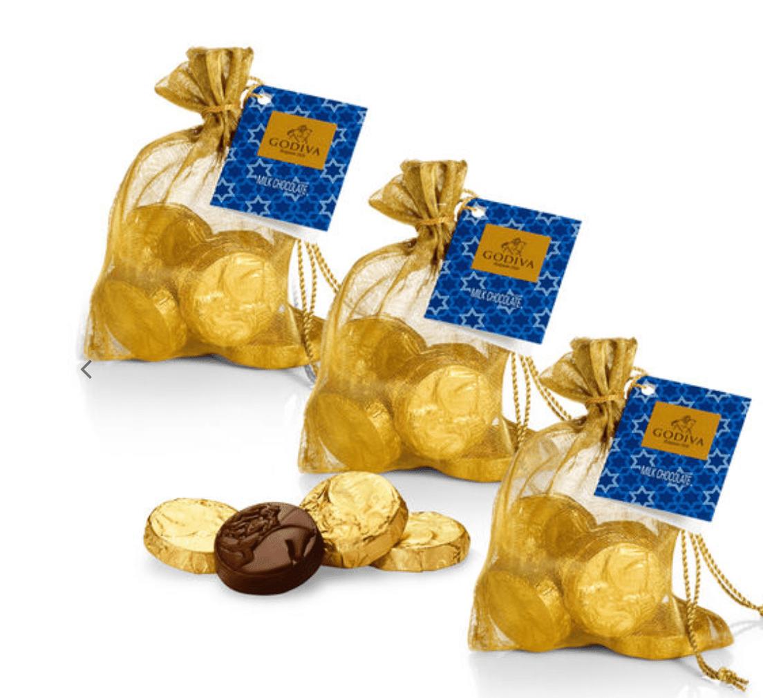 Godiva Milk Chocolate Gold Coin Bag, Set of 3