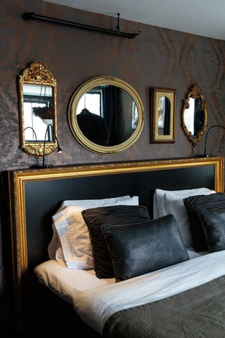Mirrors In Hollywood Regency Bedroom