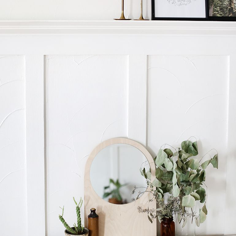 A diy small arched mirror frame