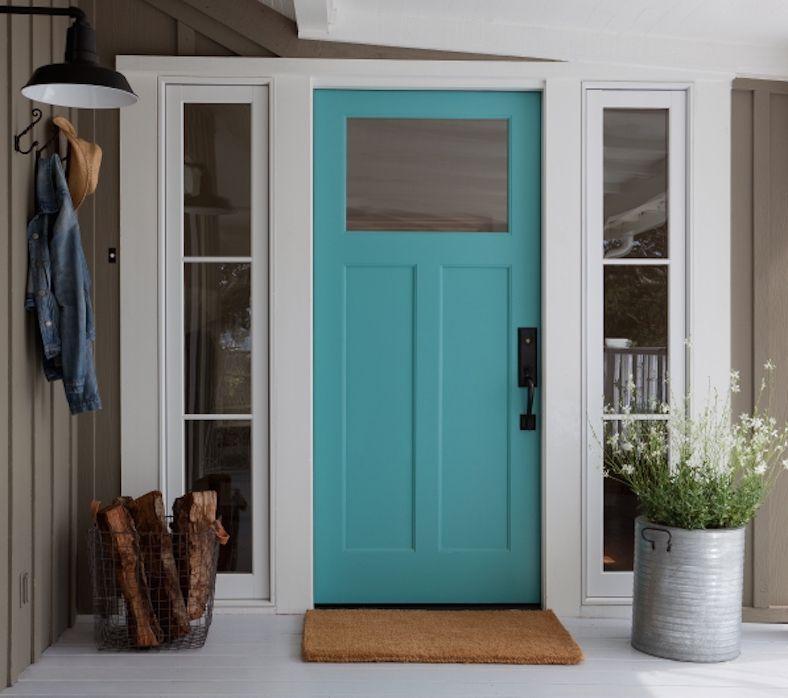 blue color door feng shui