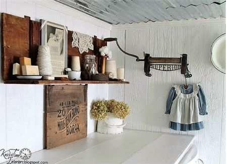 Create A Farmhouse Style Laundry Room Vintage Accessories