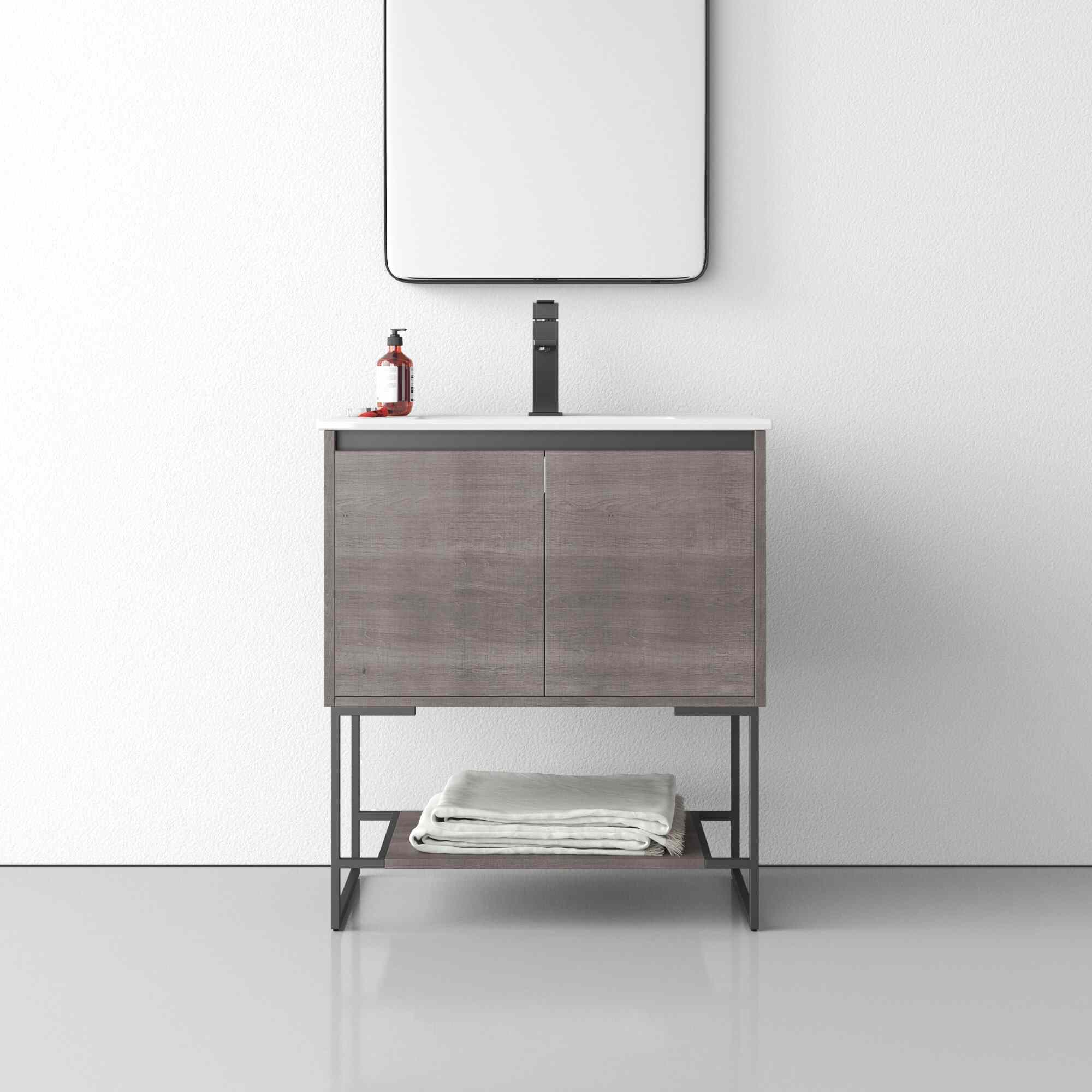 "AllModern Fidela 30"" Single Bathroom Vanity Set"