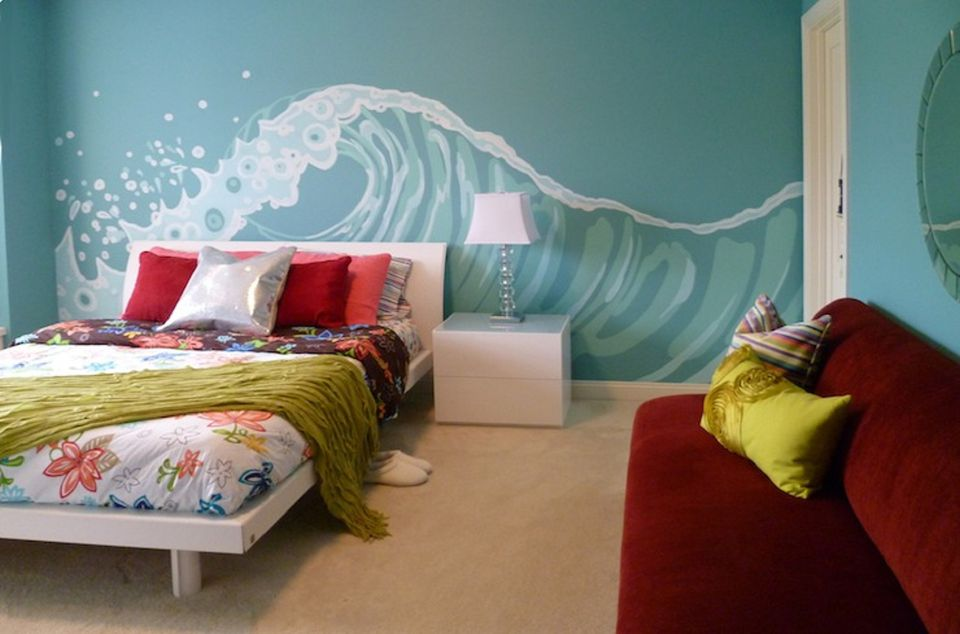 exciting ocean themed bedroom | 50 Gorgeous Beach Bedroom Decor Ideas