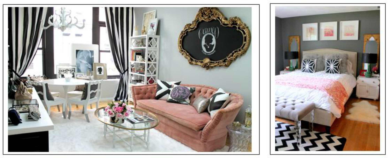 Dormitorio y sala de estar de estilo francés