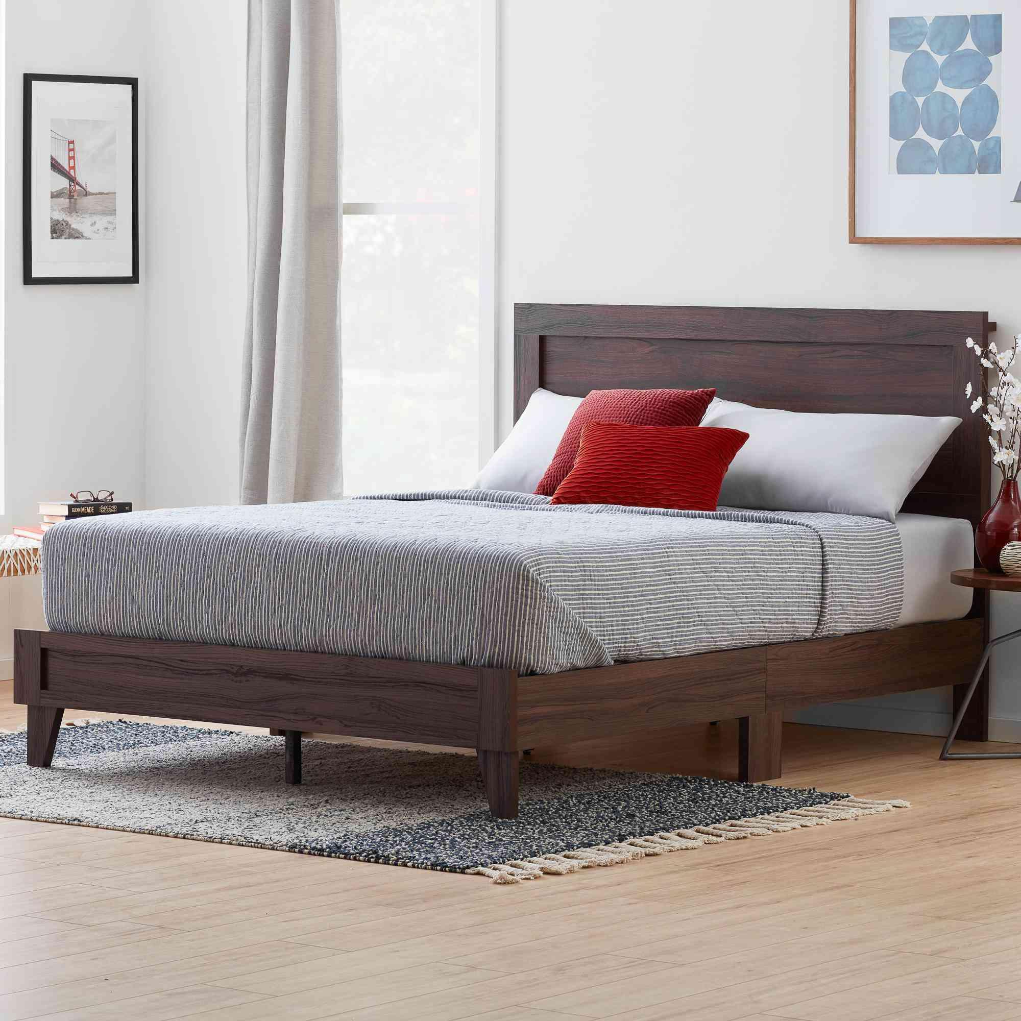 Rest Haven Durable Classic Framed Wood Platform Bed