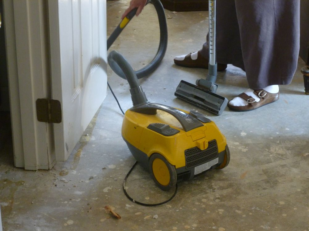 Cleaning the floors
