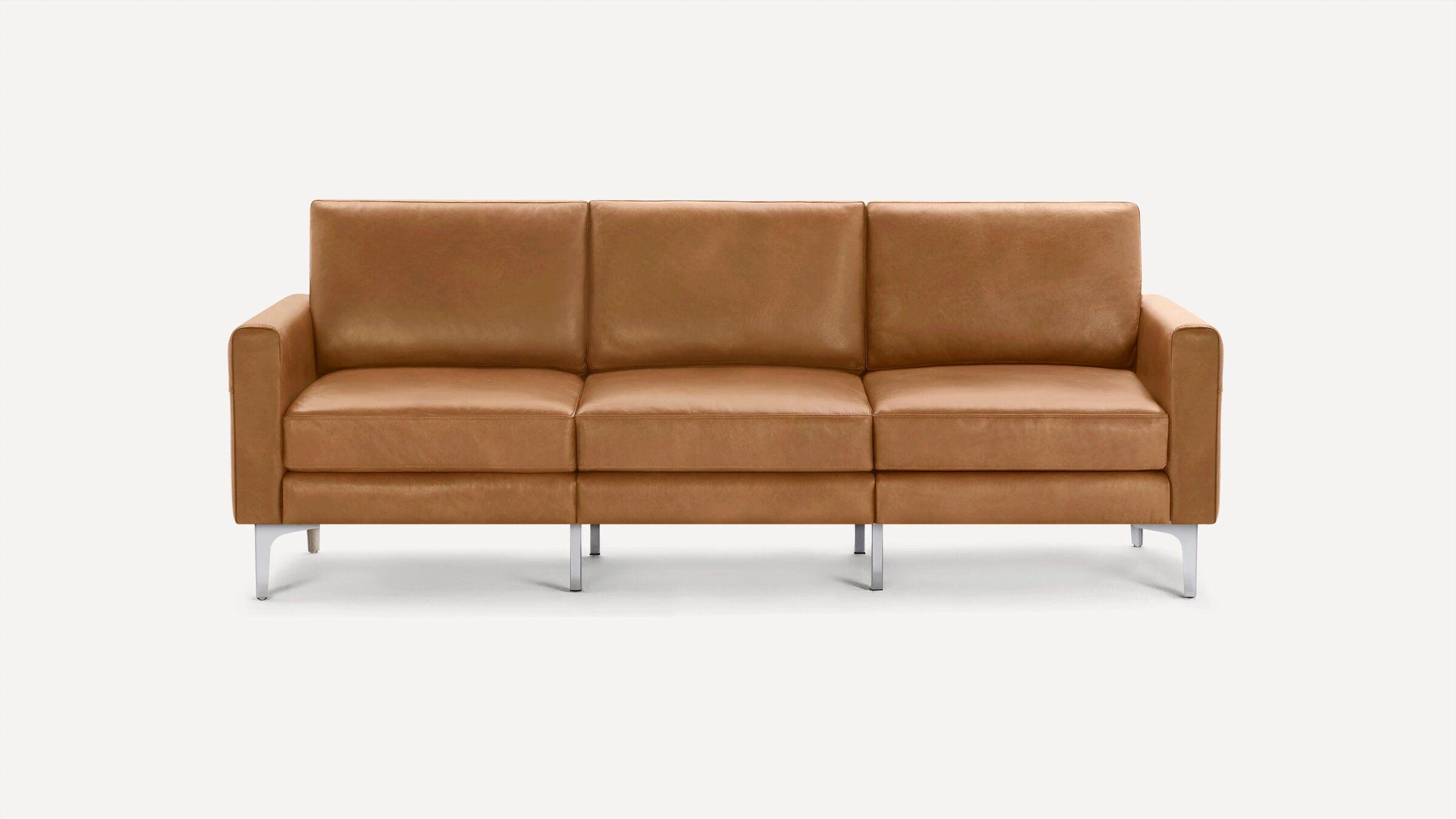 Burrow Block Nomad Leather Sofa