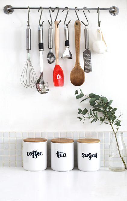 Frascos de almacenamiento de cocina de bricolaje