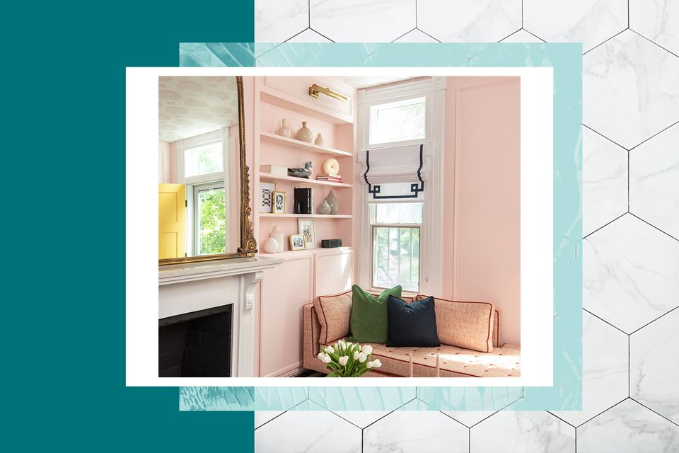 Shannon Claire's millennial pink living room