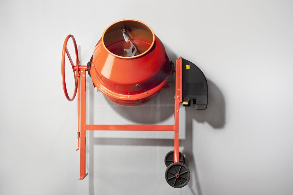 Image of an electric cement mixer.