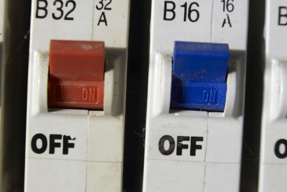 Close up of fuse box