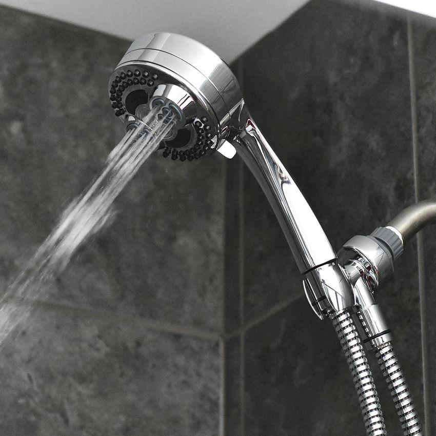 Waterpik 6-Spray Twin Turbo Handheld Showerhead