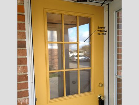 Replacing A Glass Frame In An Exterior Door