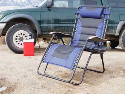 Phi Villa Padded Folding Zero Gravity Chair