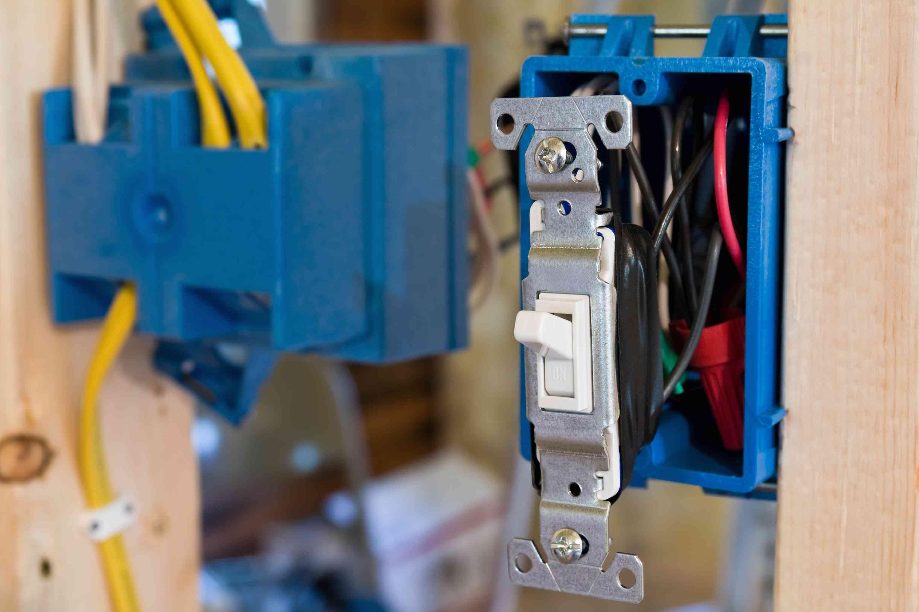 Old work box light switch