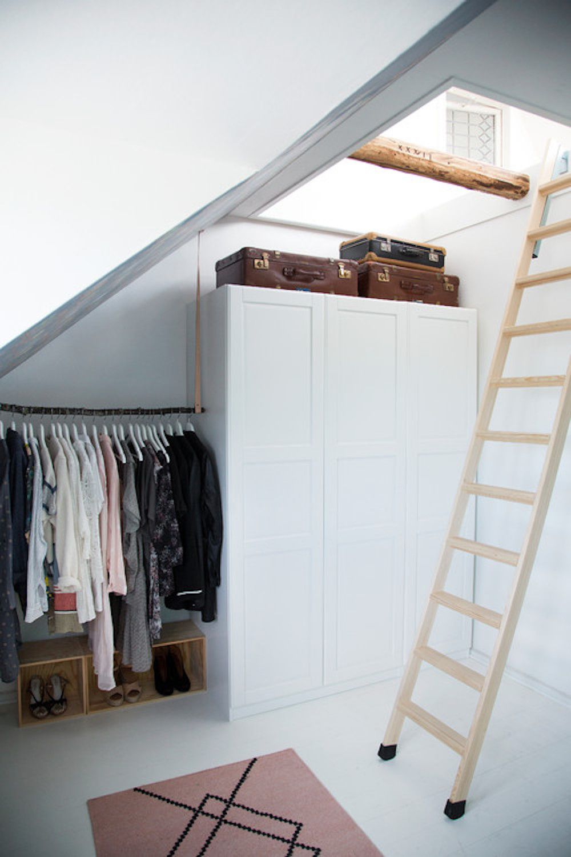 suitcases on closet