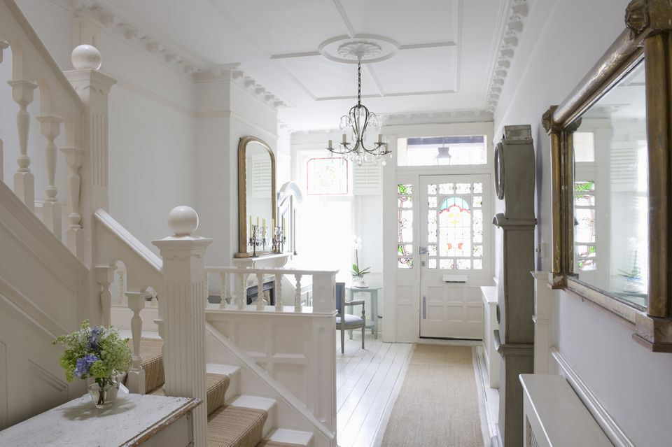 Small white foyer