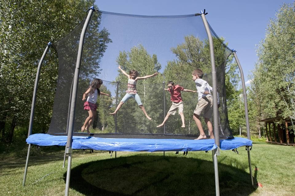 Home trampolines are a common cause of injuries.