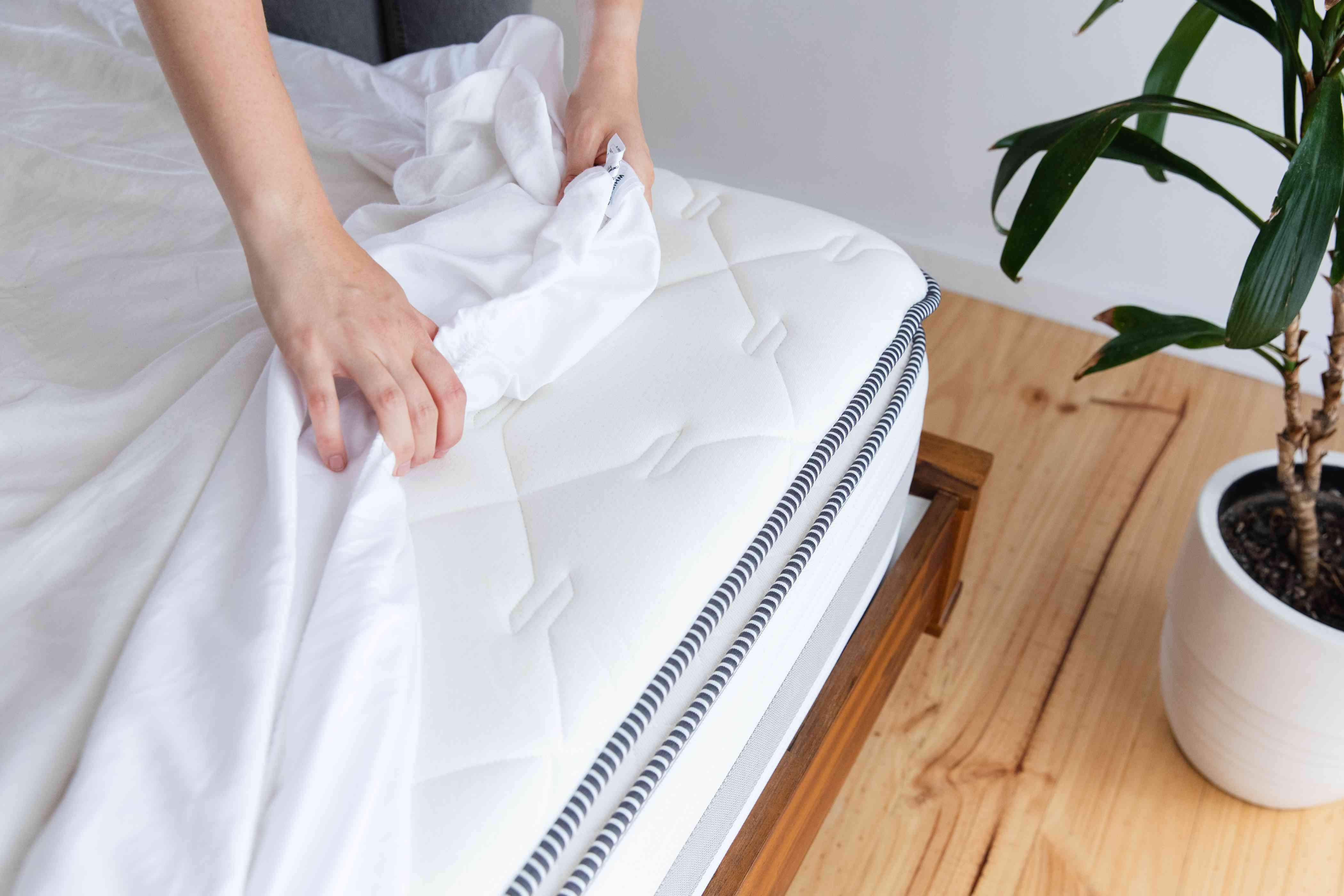 changing bed sheets
