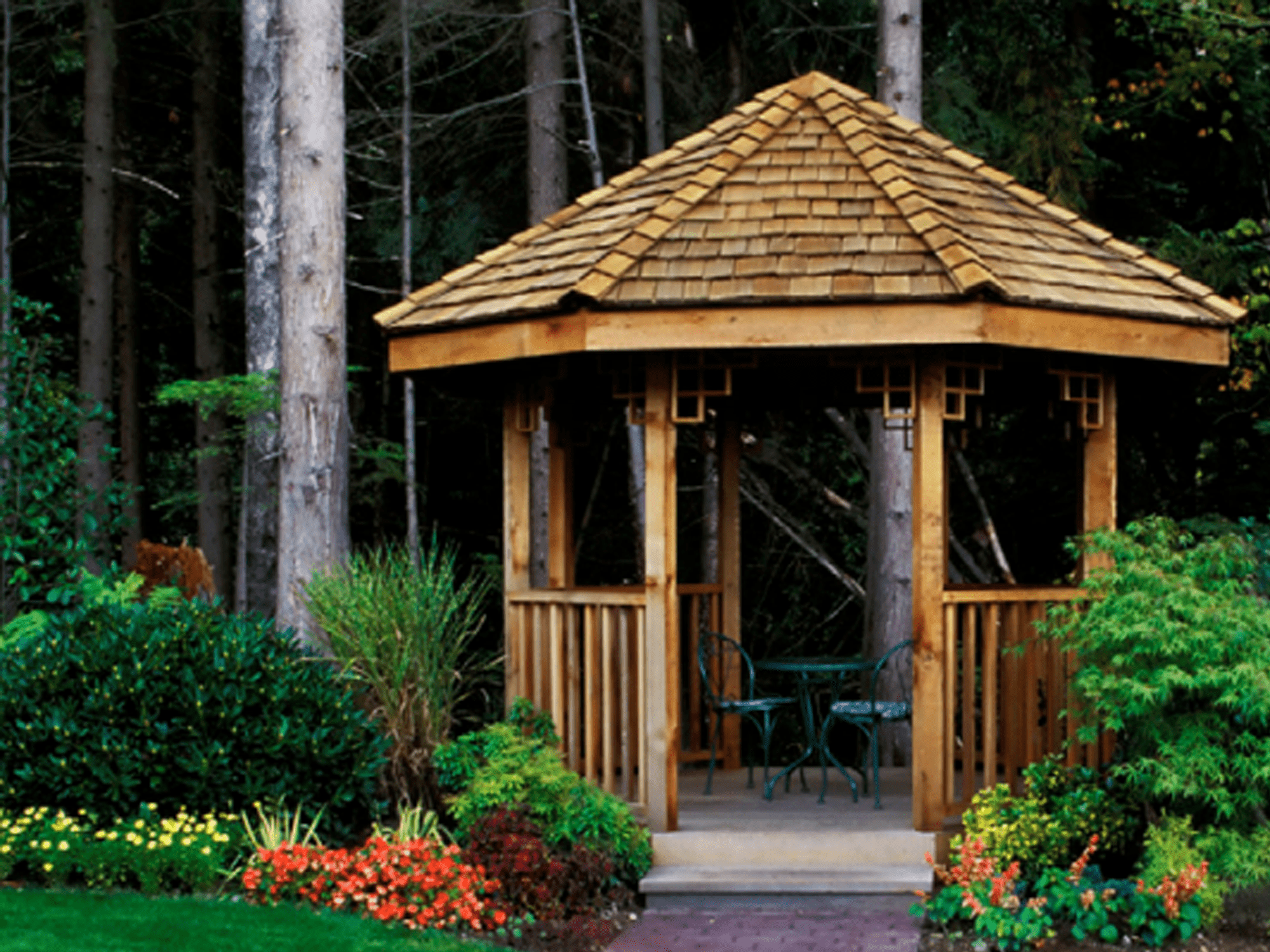 A Gazebo In The Woods