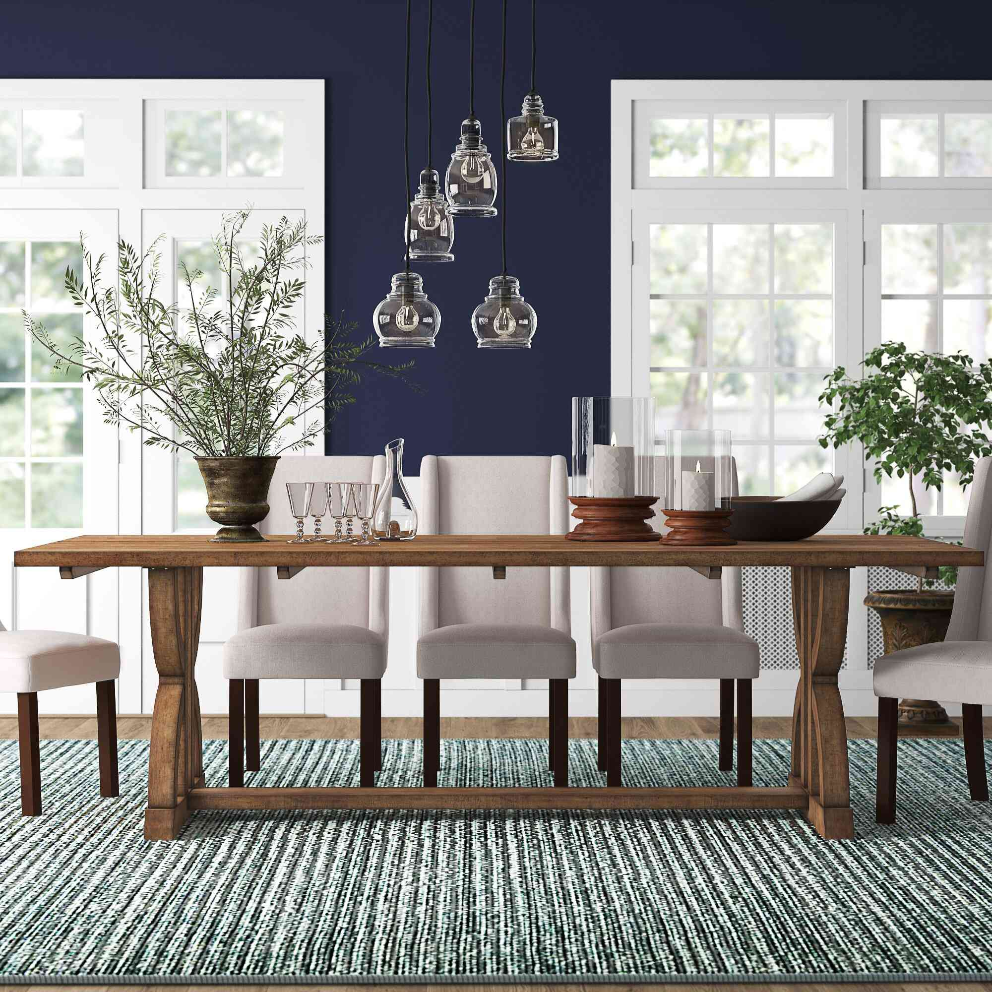 Kelly Clarkson Home Alondra Solid Wood Trestle Dining Table