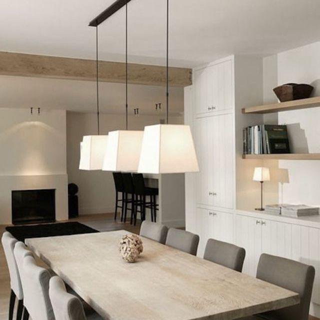 Neutral hues in Belgium designed dining room