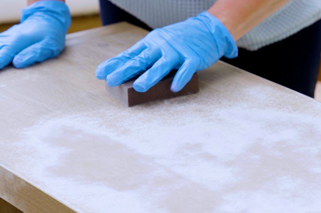 Sanding the primer layer
