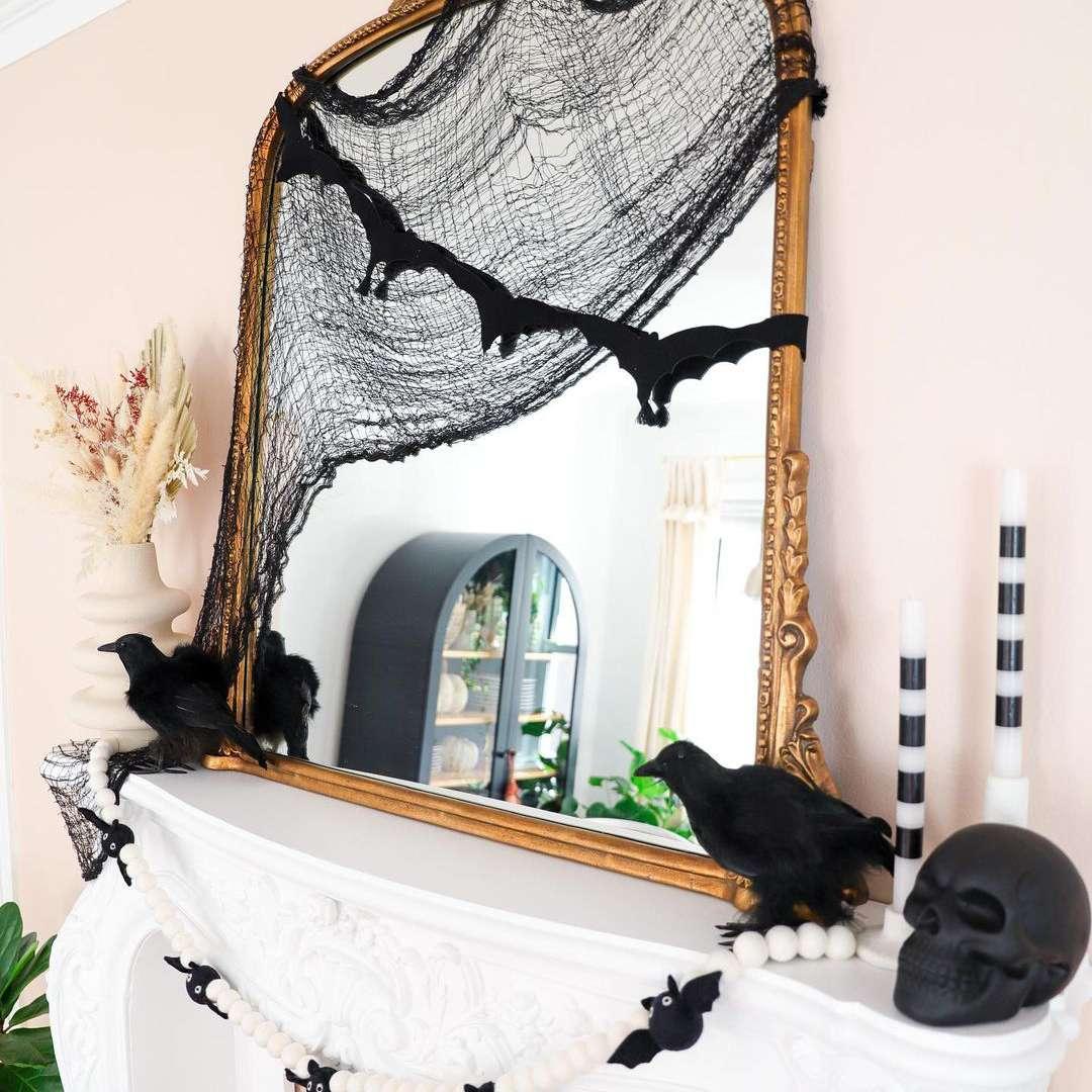 spooky mantel