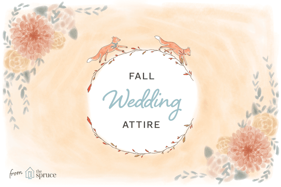 Cover illustration for fall wedding attire