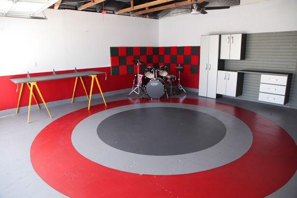 Painted Basement Floor