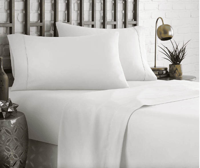 HC COLLECTION Hotel Luxury Comfort Bed Sheets Set, 1800 Series Bedding Set, Deep Pockets, Wrinkle & Fade Resistant