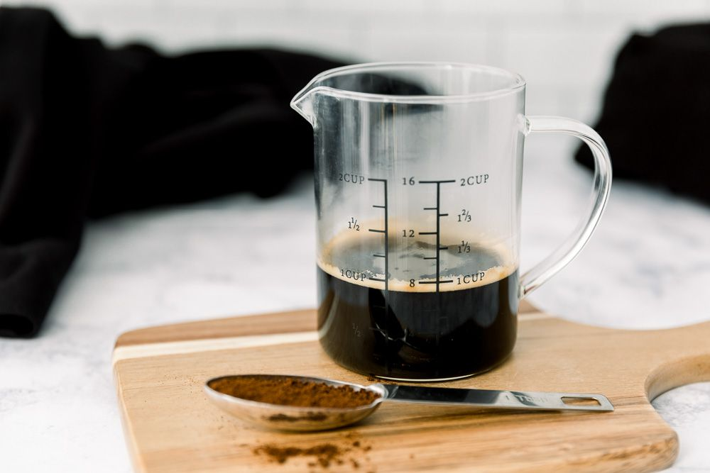 using coffee to keep darks dark