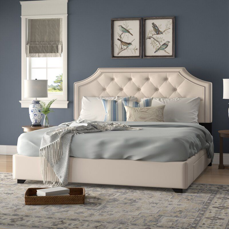 Lark Manor Chadwick Tufted Upholstered Low-Profile Storage Bed