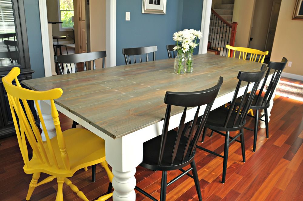 blue rustic dining room