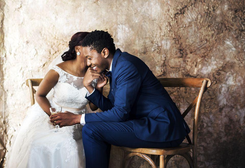 Newlywed wedding celebration