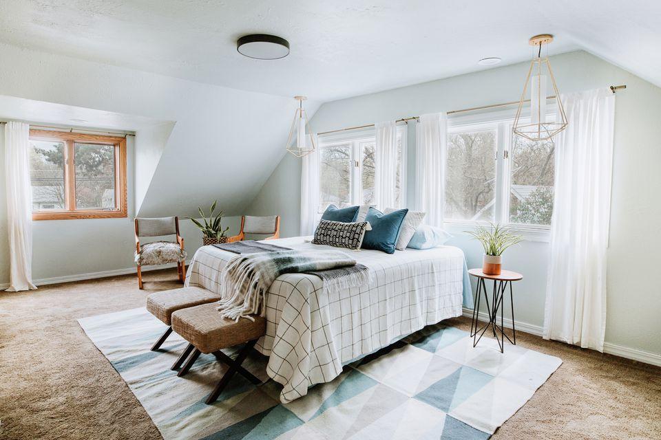 a well balanced bedroom