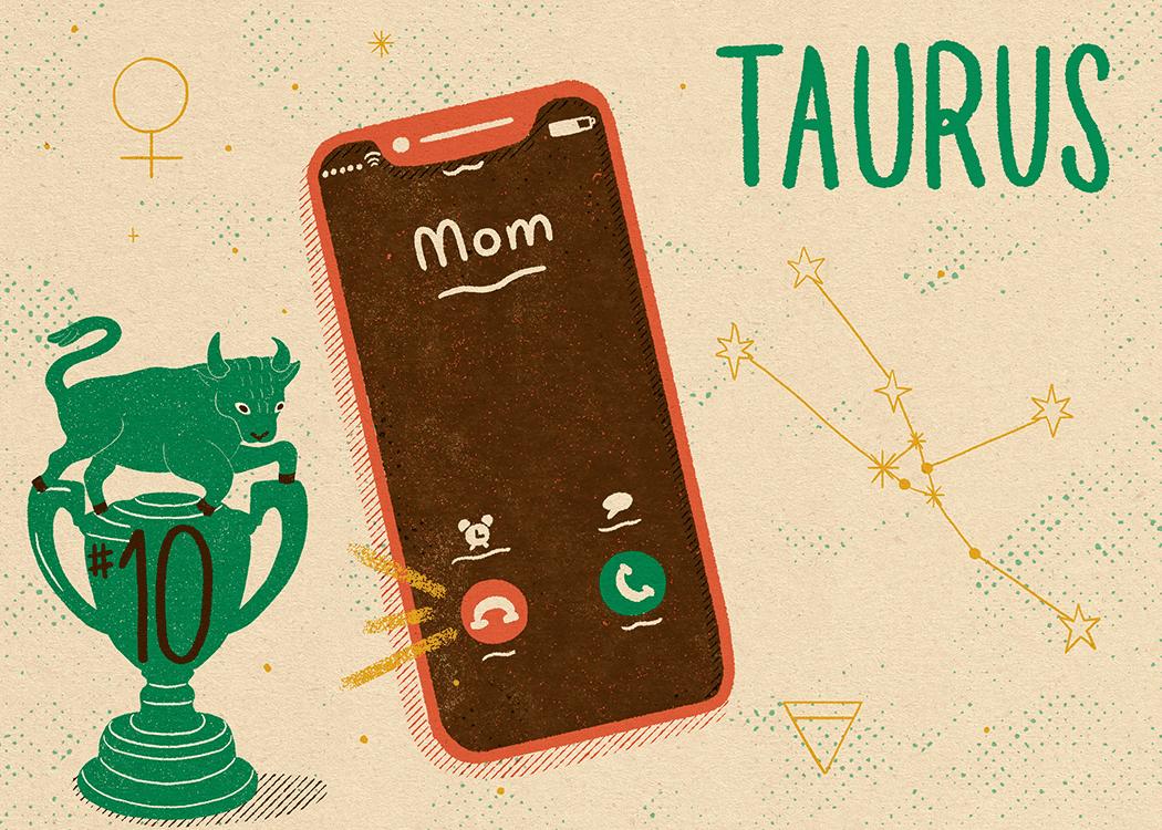 taurus zodiac politeness illustration