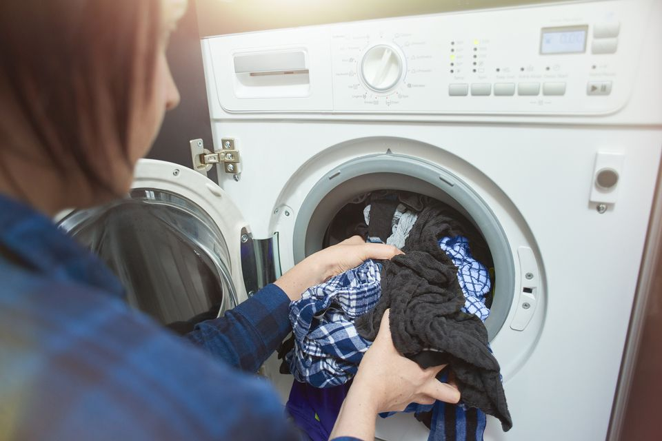 Woman doing laundry