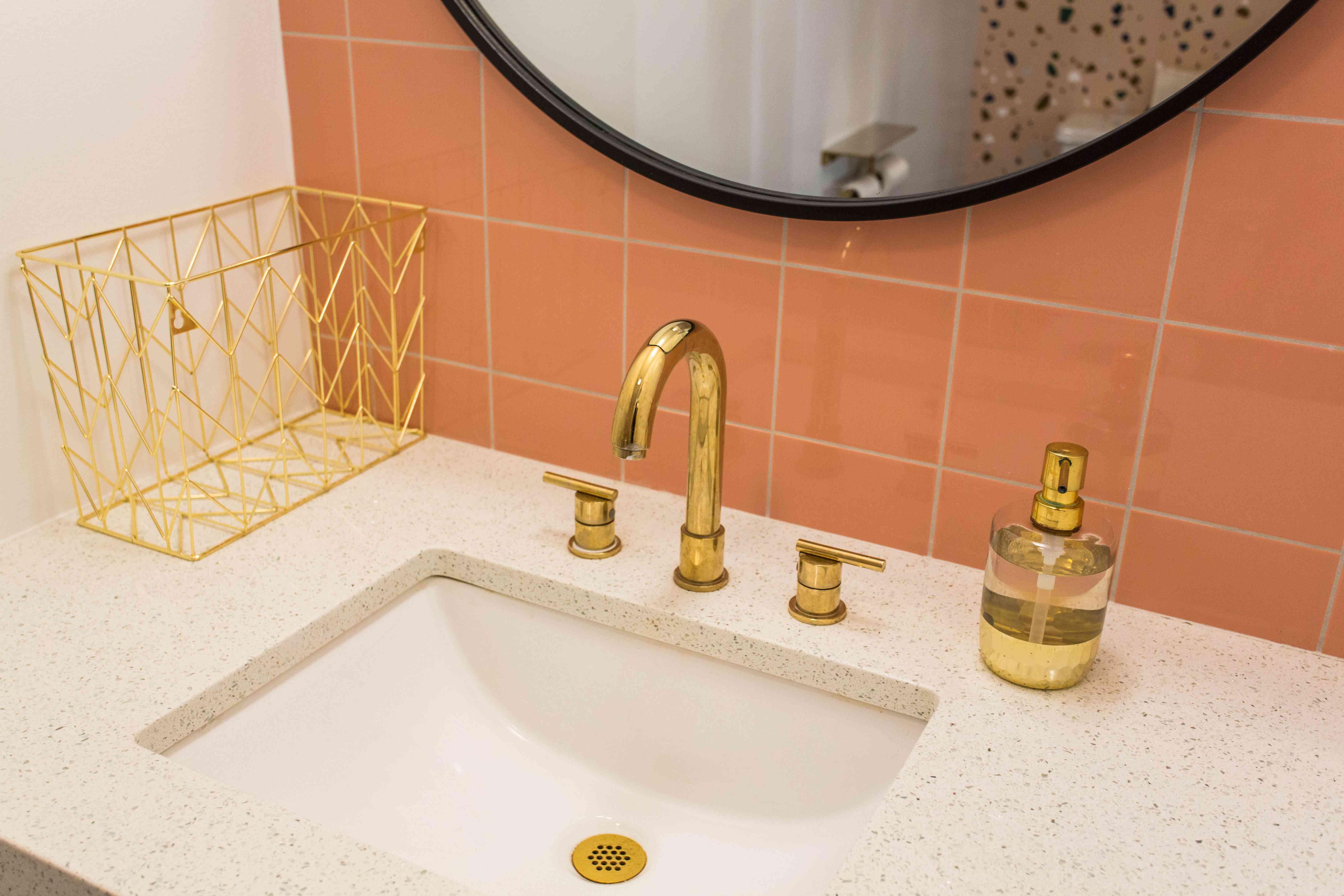 Bathroom with terrazzo sink